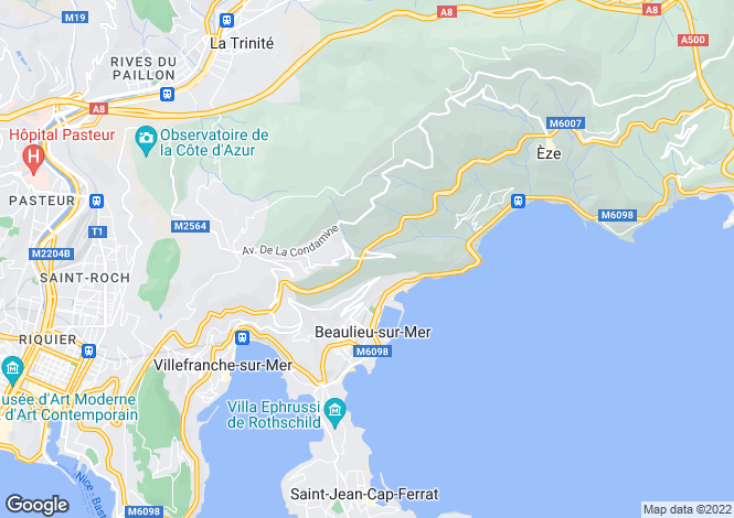 Map for Villefranche Sur Mer, French Riviera