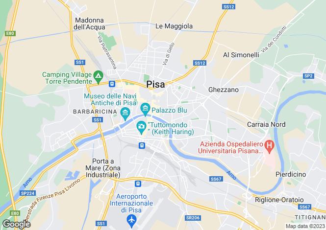 Map for Italy - Tuscany, Pisa, Pisa
