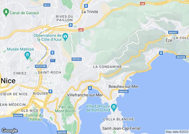 Map for Provence-Alps-Cote d`Azur, Alpes-Maritimes, Villefranche-sur-Mer