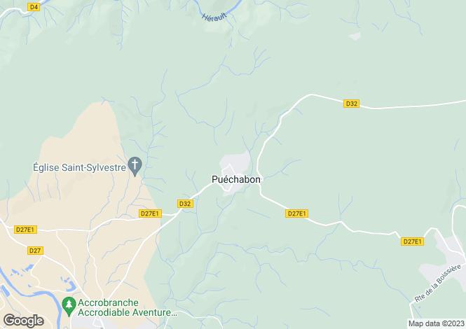 Map for puechabon, Hérault, France