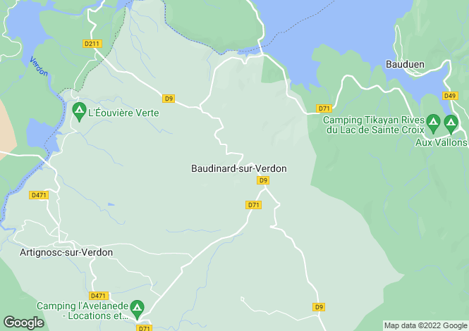 Map for Baudinard-sur-Verdon, 83630, France