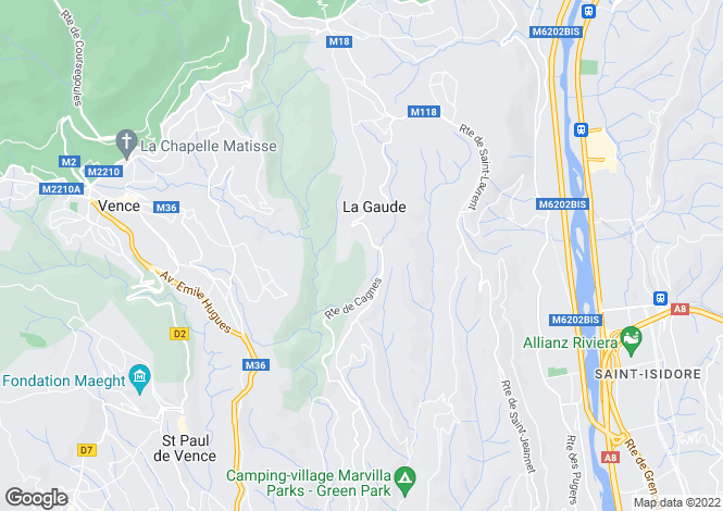 Map for La Gaude, Provence-Alpes-Cote D'azur, 06610, France