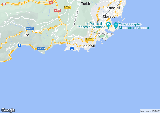 Map for Cap-d'Ail, 06320, France