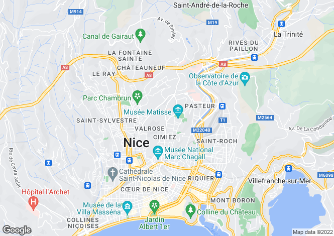 Map for Boulevard de Cimiez, Nice, French Riviera