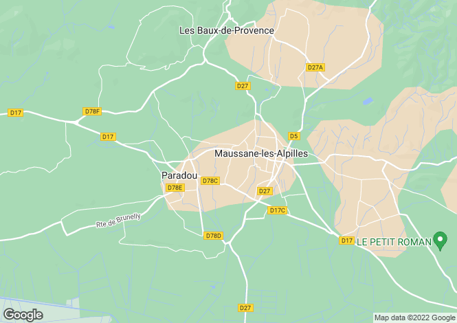 Map for Paradou, Provence, France