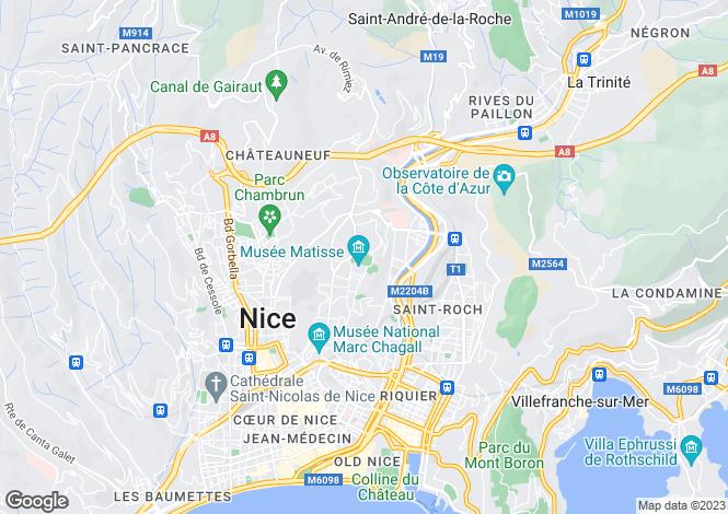 Map for Nice Cimiez, Alpes-Maritimes, France