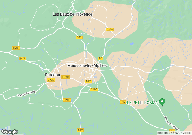 Map for MAUSSANE LES ALPILLES, The Alpilles (St Remy de Provence/Arles), Provence - Var,