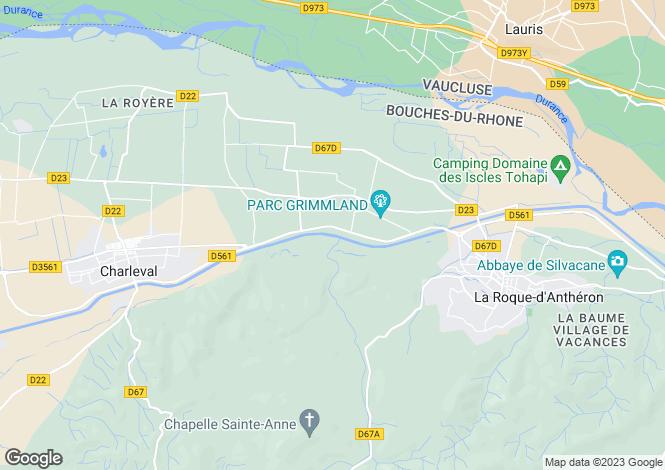 Map for Provence-Alps-Cote d`Azur, Bouches-du-Rhône, La Roque-d`Anthéron