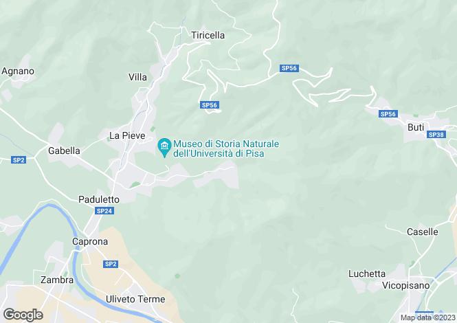 Map for Tuscany, Pisa, Calci