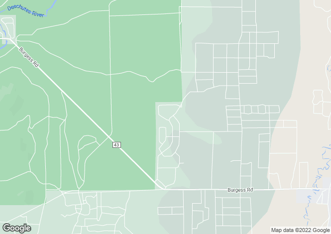Map for Oregon, Deschutes County, La Pine