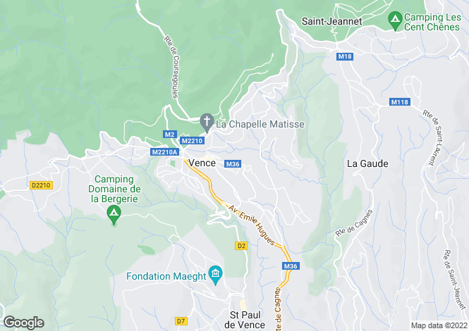 Map for VENCE,Provence-Alpes-Côte d'Azur, France