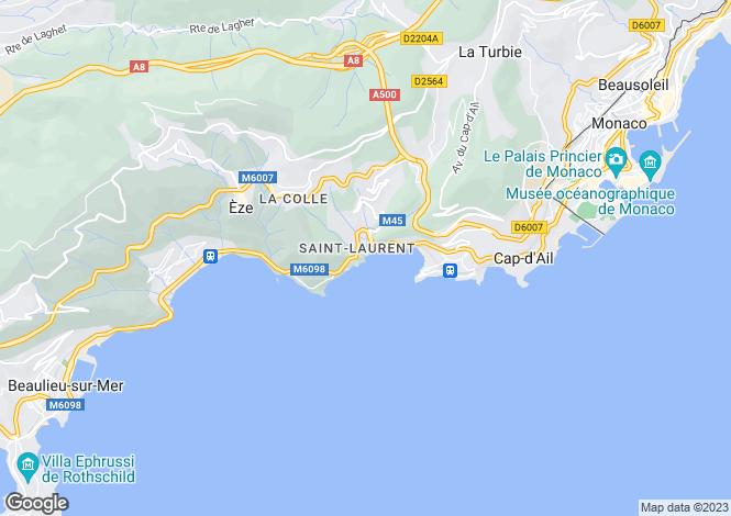 Map for Saint-Laurent-D'Eze, Eze