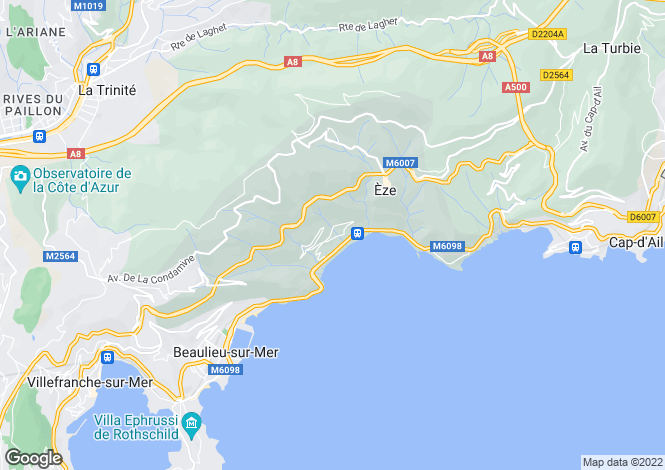 Map for Eze Bord de Mer, French Riviera