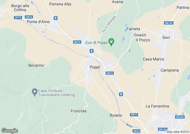 Map for Poppi, Tuscany, Italy