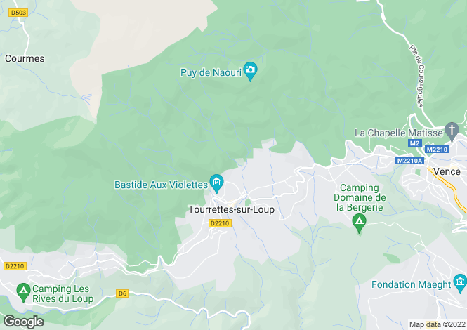 Map for TOURRETTES SUR LOUP, St. Paul Area, Riviera,