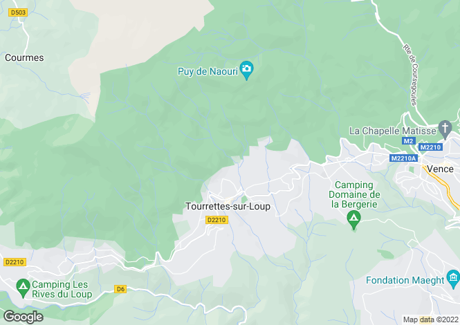 Map for Tourrettes Sur Loup, Provence-Alpes-Cote D'azur, 06140, France