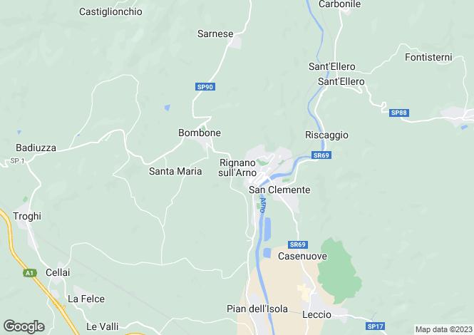 Map for Rignano Sull'arno, Tuscany, Italy