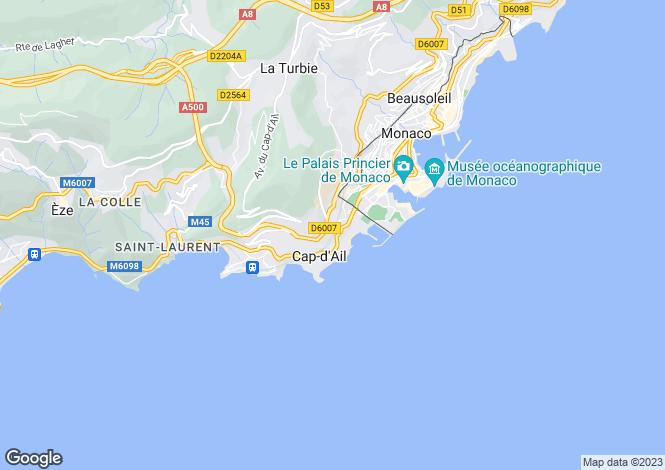 Map for Cap-d'Ail, Alpes-Maritimes, Provence-Alps-Cote d`Azur