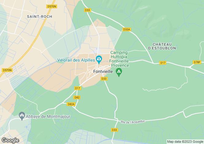 Map for 13990, Fontvieille, Bouches-du-Rhone