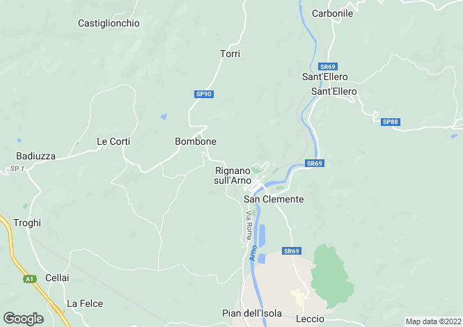 Map for Rignano sull`Arno, Florence, Tuscany