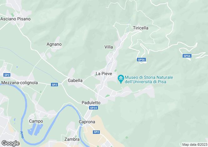 Map for Calci, Tuscany, Italy