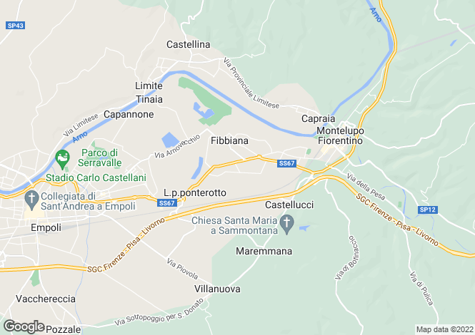 Map for Italy - Tuscany, Florence, Montelupo Fiorentino