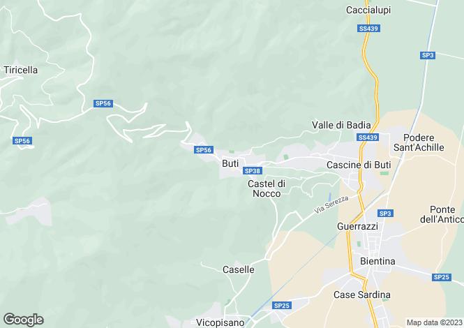 Map for Tuscany, Pisa, Buti