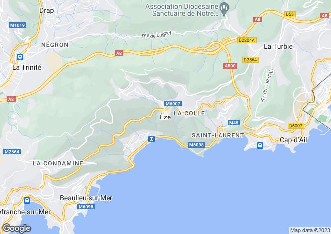 Map for Provence-Alps-Cote d`Azur, Alpes-Maritimes, Èze