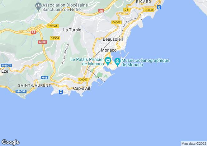 Map for Contemporary Style Apartment, Marine de Fontvieille, Monaco