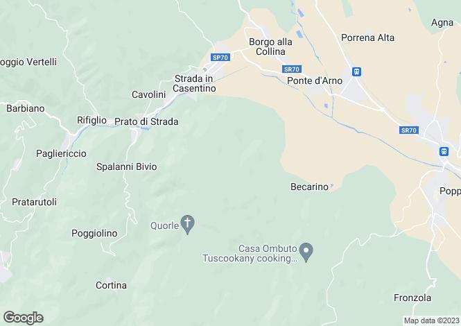 Map for Castèl San Niccolò, Arezzo, Tuscany
