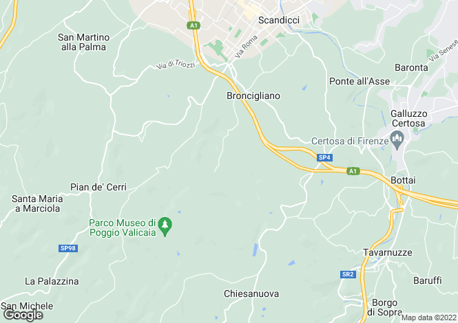 Map for Scandicci, Florence, Tuscany