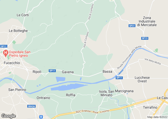 Map for Tuscany, Florence