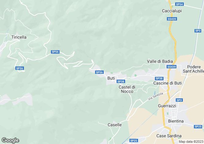 Map for Buti, Pisa, Italy