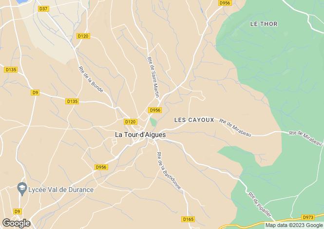 Map for la-tour-daigues, Vaucluse, France
