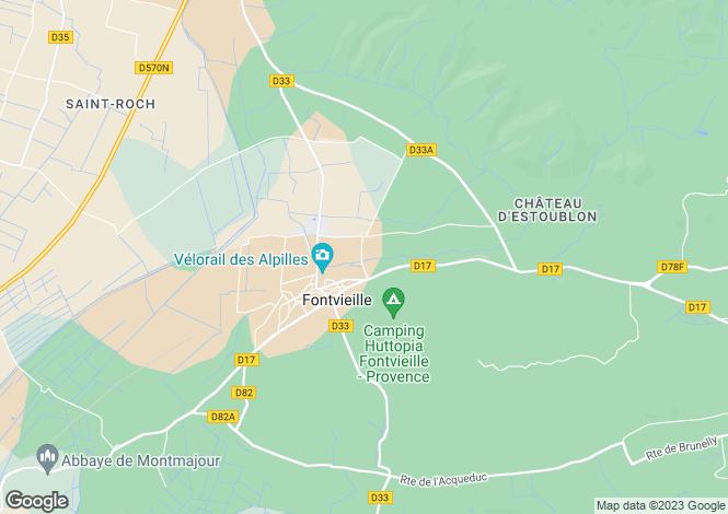 Map for fontvieille, Bouches-du-Rhône, France