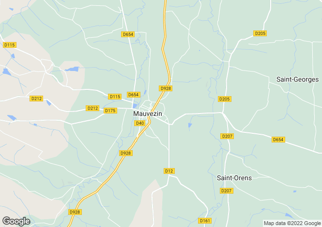 Map for Mauvezin, Gers, Midi-Pyrénées