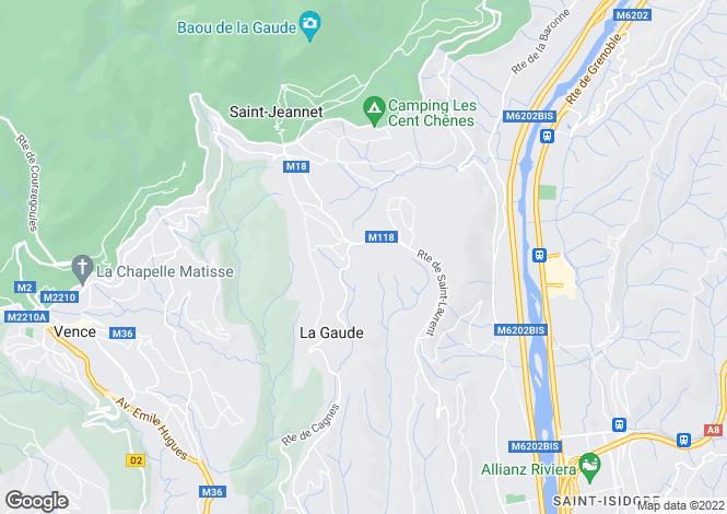 Map for Luxurious New Build Apartments, Nice Hills, Alpes Maritimes