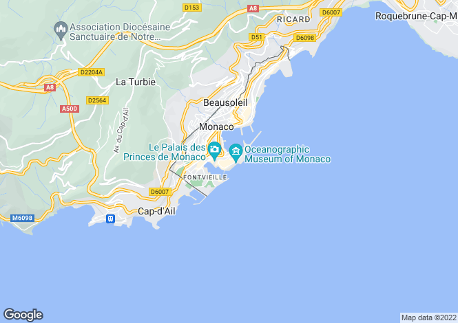 Map for Apartment With Sea View, Monaco