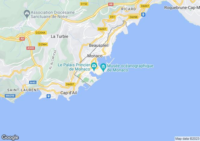 Map for Sea Side Plaza, Monaco