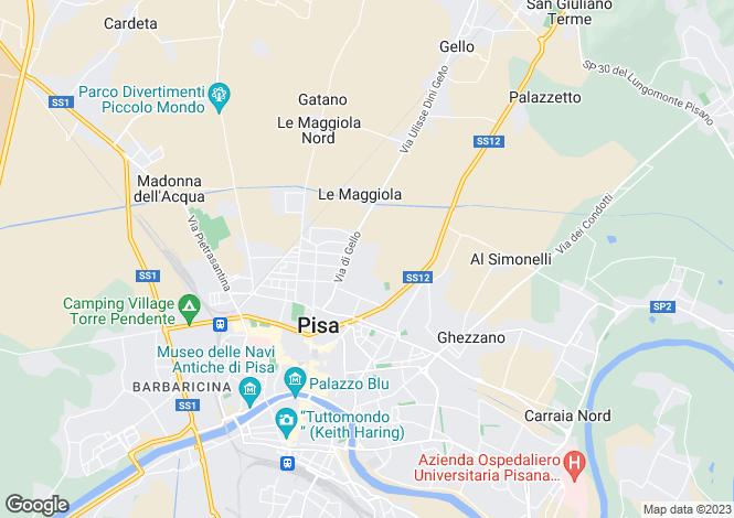 Map for Pisa, Pisa, Tuscany