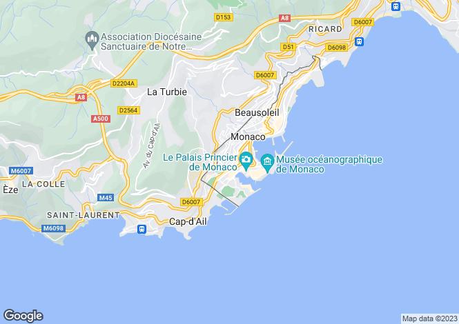 Map for Le Bettina, Jardin Exotique, Monaco