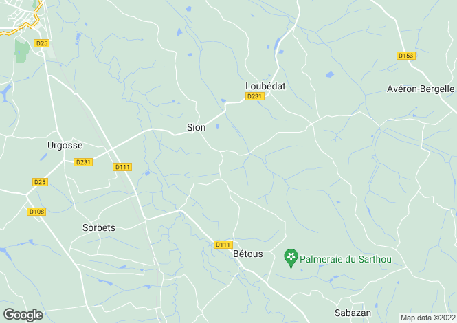 Map for loubedat, Gers, France