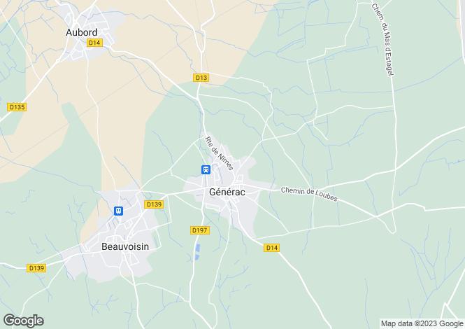 Map for generac, Gard, France