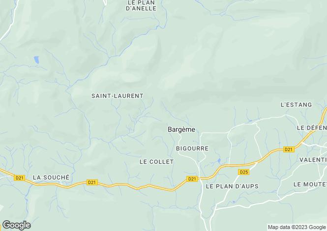 Map for bargeme, Var, France