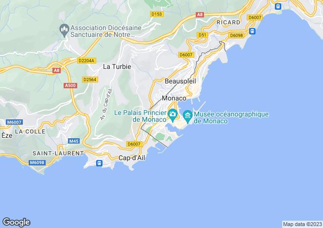 Map for Le Castel Studio Apartment, Avenue Crovetto Frères, Monaco