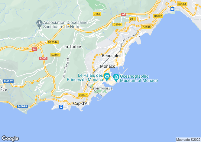 Map for Above The Port Hercule