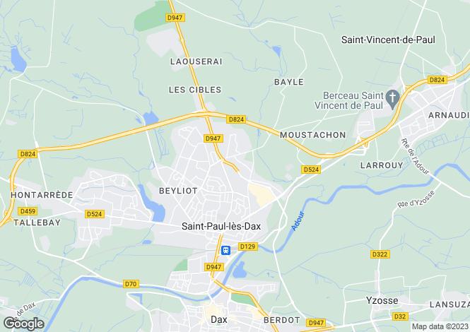 Map for st-paul-les-dax, Landes, France