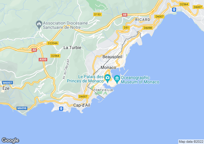 Map for Soleil D'Or, Moneghetti - Monaco