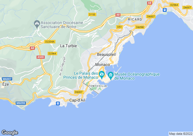 Map for Apartment In Beverly Palace, Moneghetti, Monaco