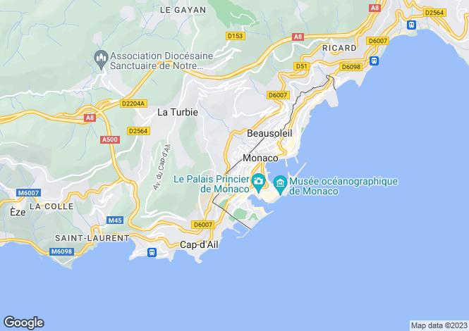 Map for Luxury Refurbished Apartment, Monaco